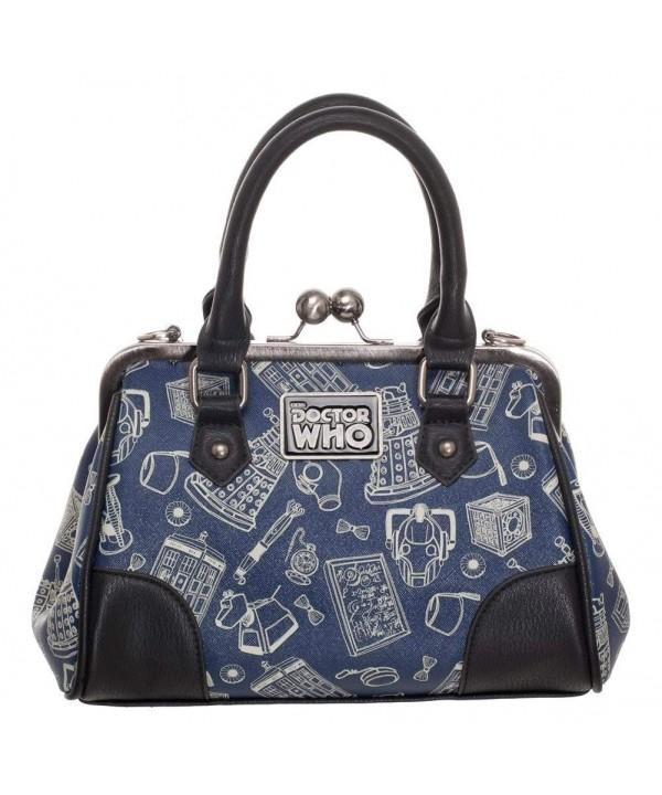 Doctor Scribble Kisslock Handbag Satchel