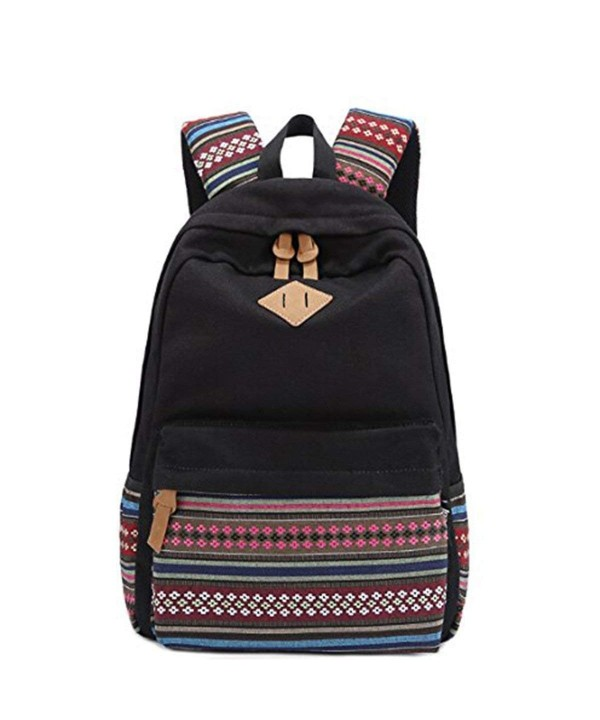 OULII Bohemian Womens Canvas Backpack