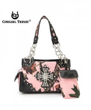 Cowgirl Trendy Leaves Trees Satchel