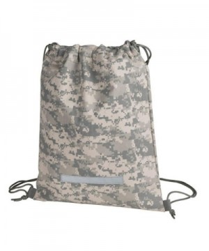 Drawstring Backpack Digital Camouflage Military