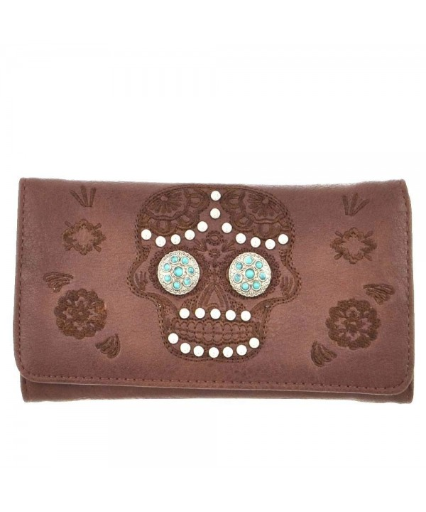 B11 3 bx Turquoise Concho Trifold Wallet MJ7006