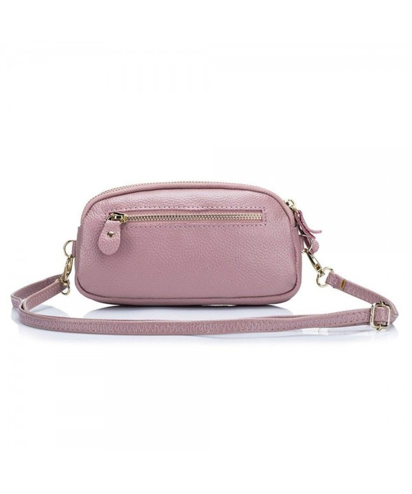 Aladin Leather Crossbody Wristlet Compartments