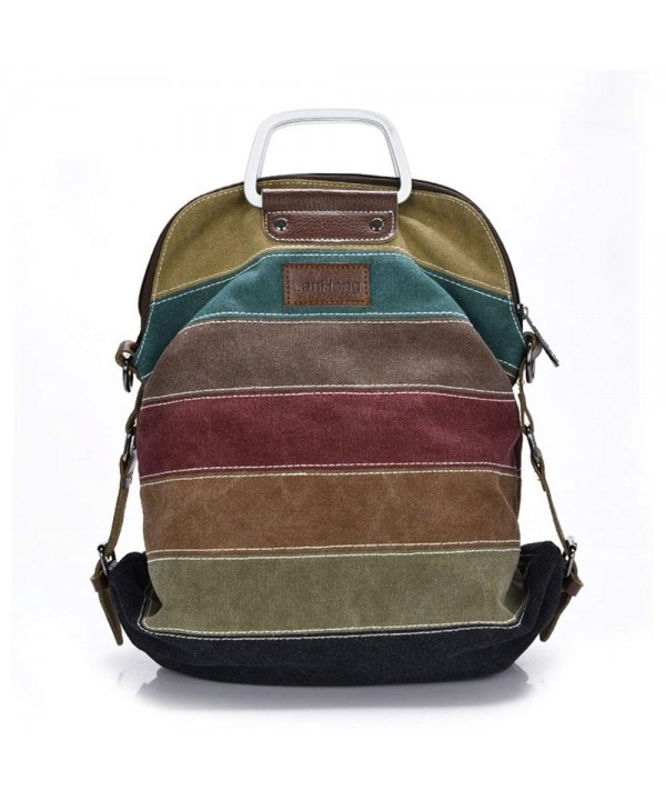 LanHong Multi Color Backpack Crossbody Shoulder