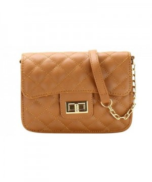 Fashion Quilted Crossbody Women BROWN