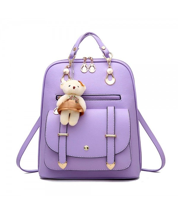 Backpack Leather Shoulder Cartoon Pendant