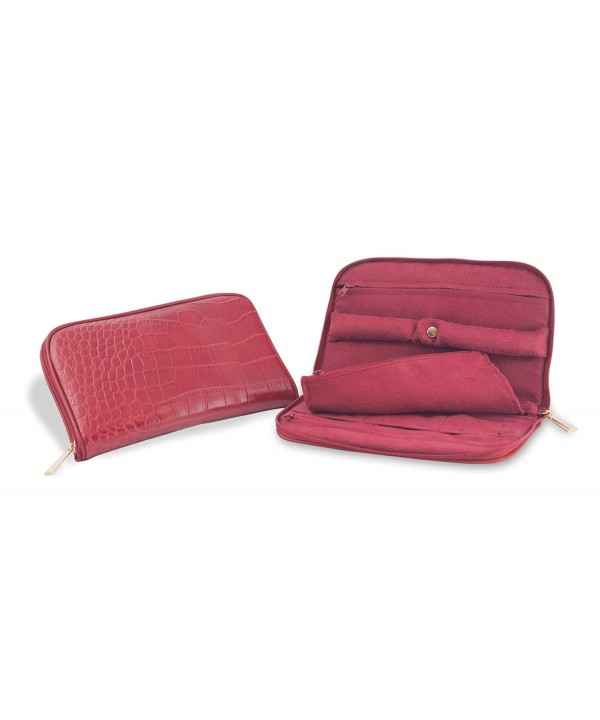 Connoisseurs Leather Jewelry Carrying Clutch