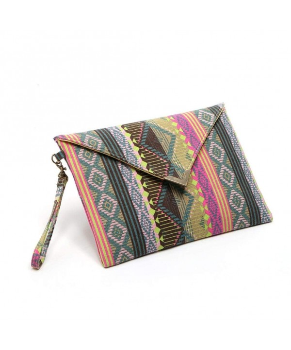 Start Canvas Colorful Envelope Handbag