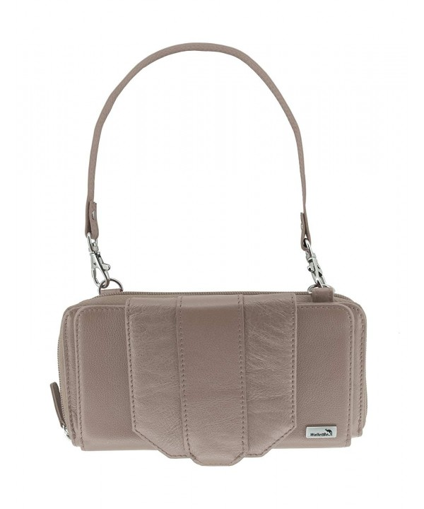WalletBe Leather Crossbody Accordion Pebbled