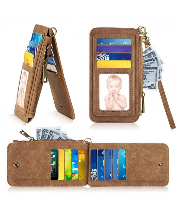 LUXMO Wallets Leather Credit Espresso