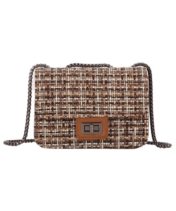 Retro Crossbody Mosaic Turn lock Shoulder
