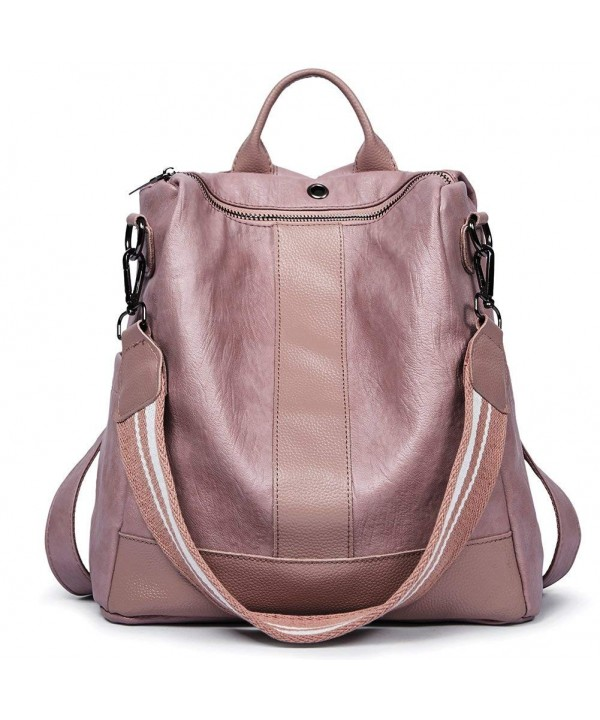 Backpacks Leather Covertible Shoulder Fashion