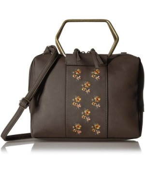 T Shirt Jeans Satchel Embroidered Flowers