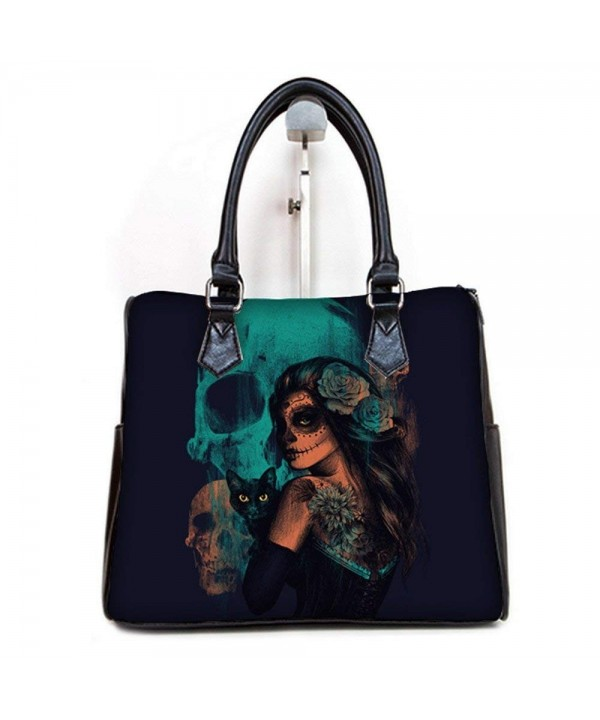 Fashionable Female Handbags Muertos Pattern