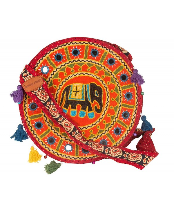 Elephant Embroidered Crossbody Shoulder Colorful