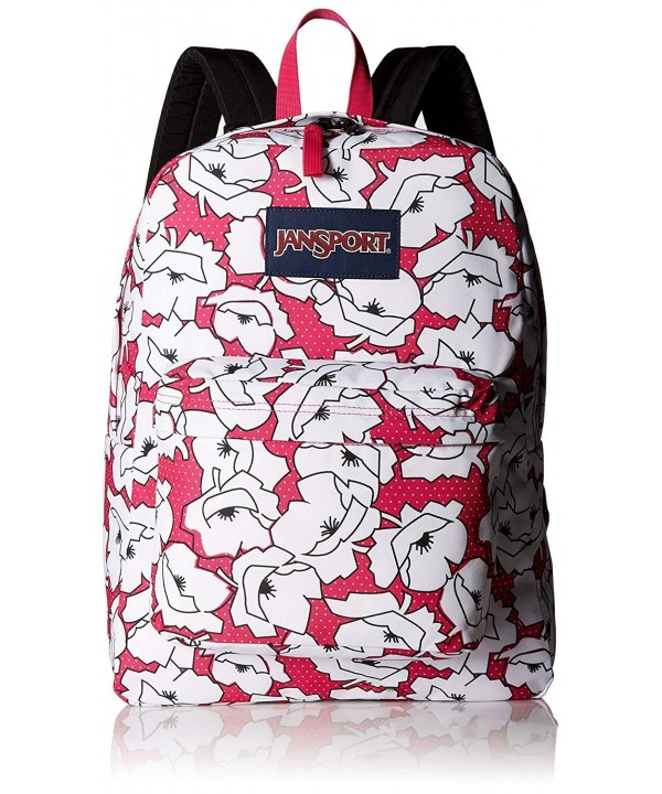Jansport Superbreak Backpack pink white
