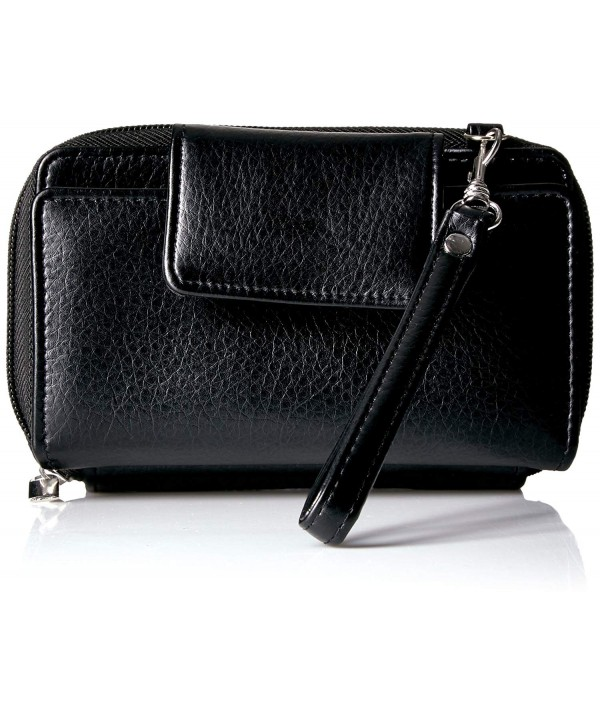 Buxton Phone Crossbody Wristlet Black