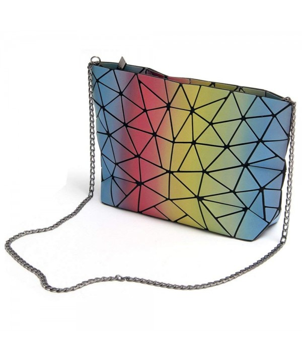 Fashion Shoulder Geometric Gradient Colorful