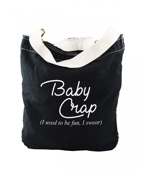 Funny Swear Black Canvas Slouch