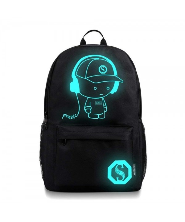 Transer Teenagers Noctilucent Cartoon Backpacks