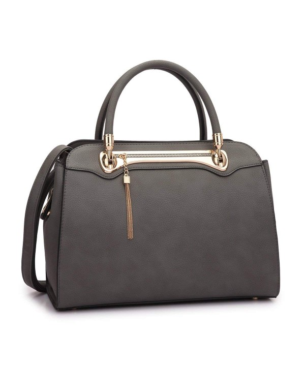 Structured Satchel Leather Handbag Shoulder