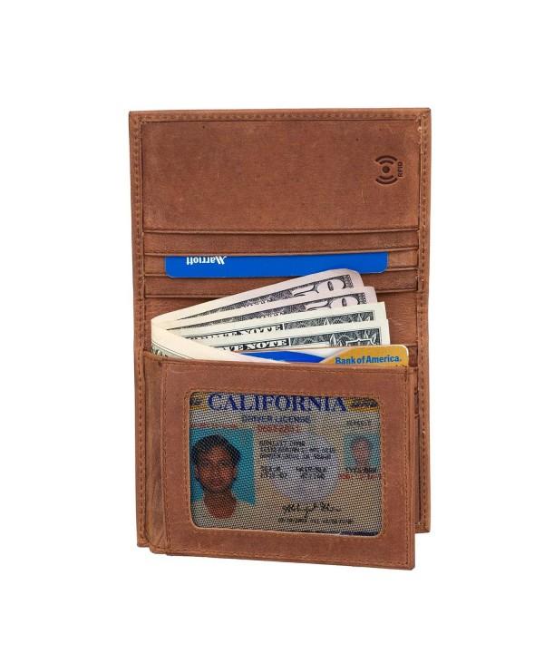 Vintage Leather Bifold Wallets Pocket