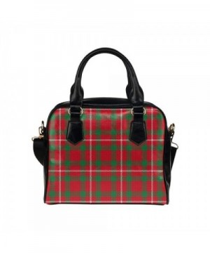 LEINTEREST Green Plaid Handbag Shoulder