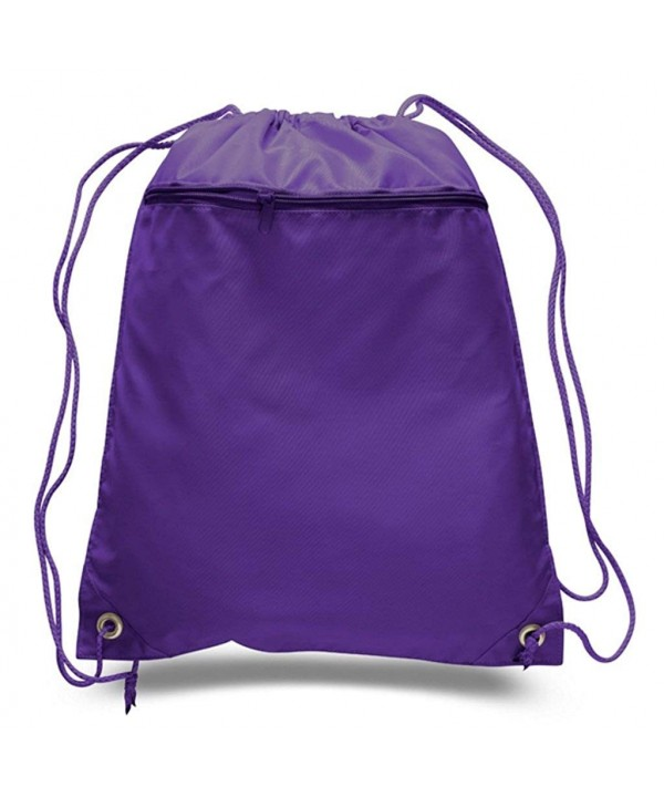 Durable Polyester Drawstring Zippered Pocket