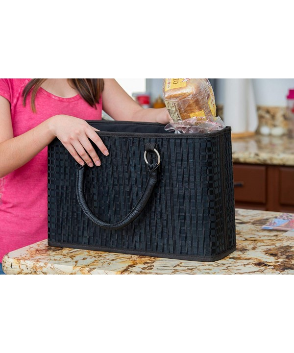 Zippered Bamboo Briefcase Eco Friendly Tote