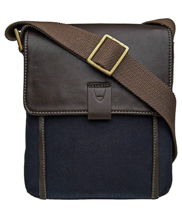 Hidesign Canvas Leather Crossbody Messenger