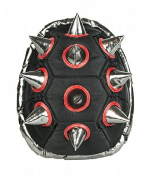BioDomes Spiked Black Red Shell Backpack