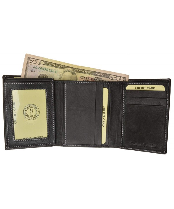 Classic Tri fold Premium Leather Genuine