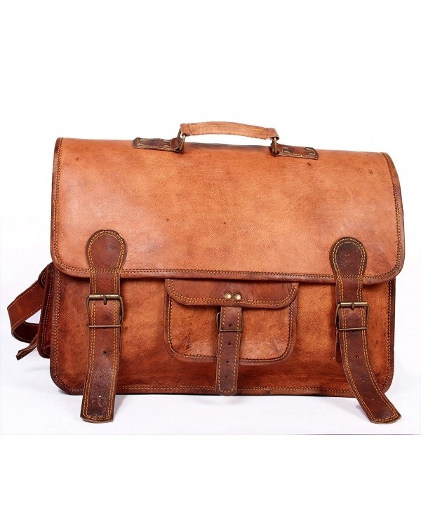Handmade Messenger Briefcase Computer distressed