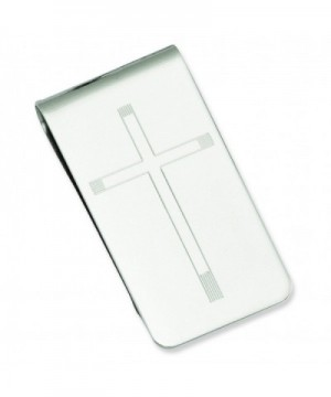 Shop4Silver Rhodium Plated Cross Engravable Money