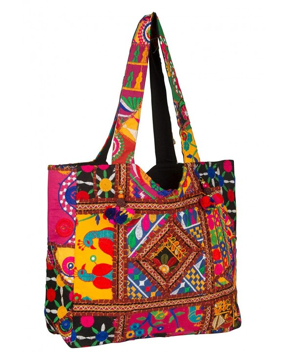 Colorful Floral Shoulder Handbag Spacious