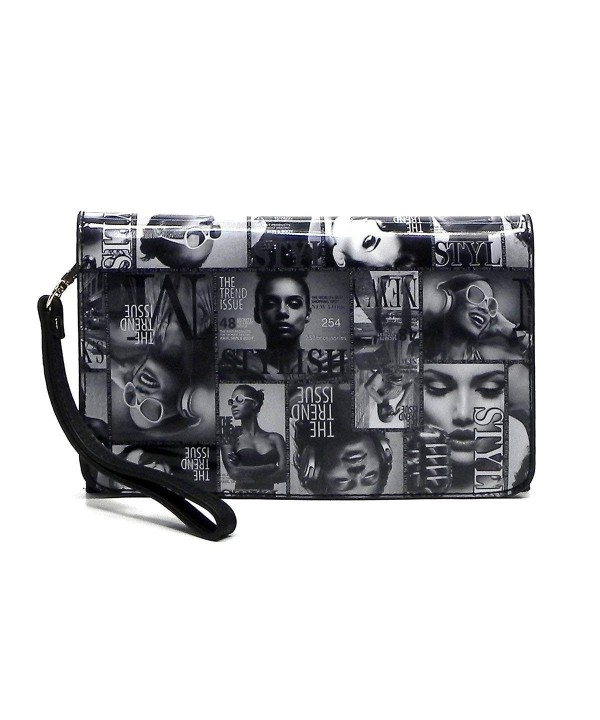 Magazine Collage Hipster Messenger 010Q Black