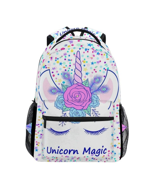 ZOEO Backpacks Unicorn Bookbags Daypack