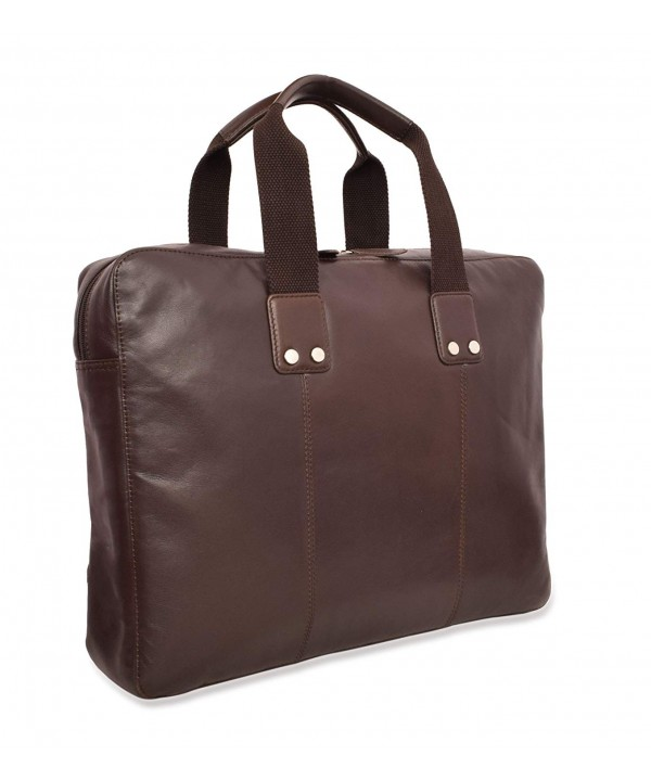 V an Leather Formal Briefcase Espresso