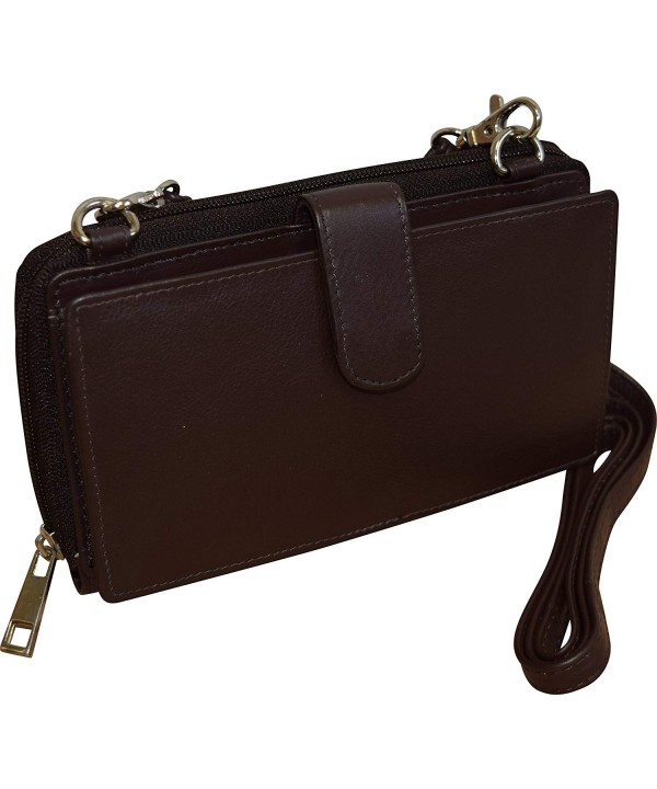 Pielino Womens Leather Crossbody Wallet