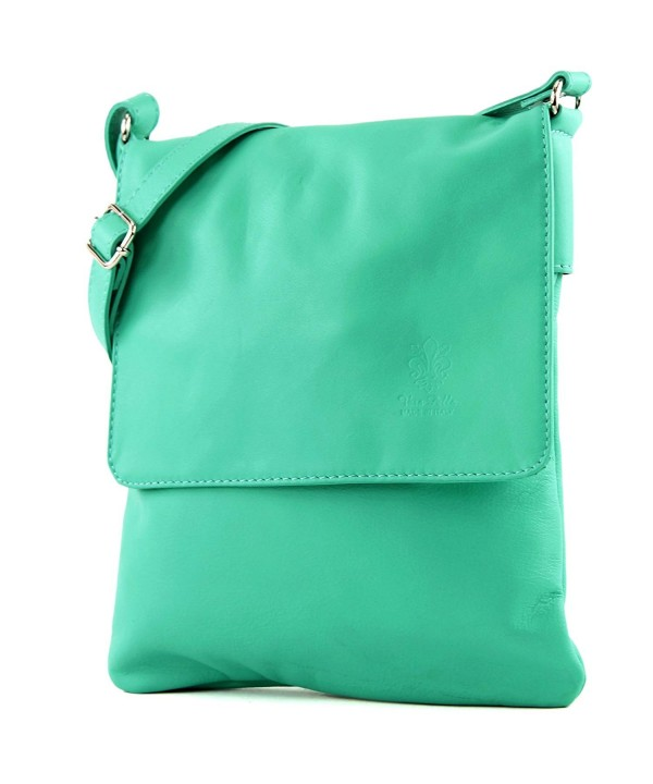 Modamoda italian Shoulder Messenger Aquamarine