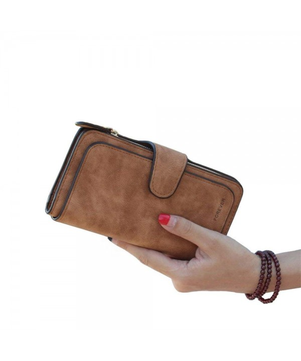 Wallet Leather Capacity Organizer Ladies