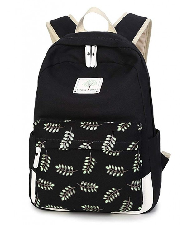 Backpack Floral College Student Knapsack