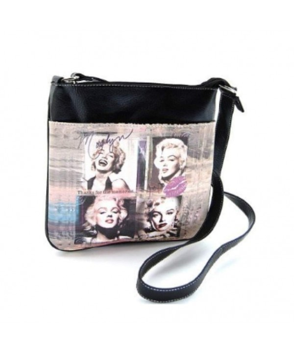 Marilyn Monroe Cross Bag Thanks Memories Black