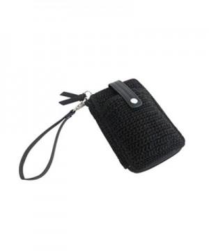 Crochet Wallet Leather Organizer Wristlet