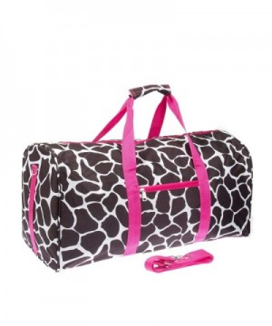 Giraffe Print Luggage Duffle Black
