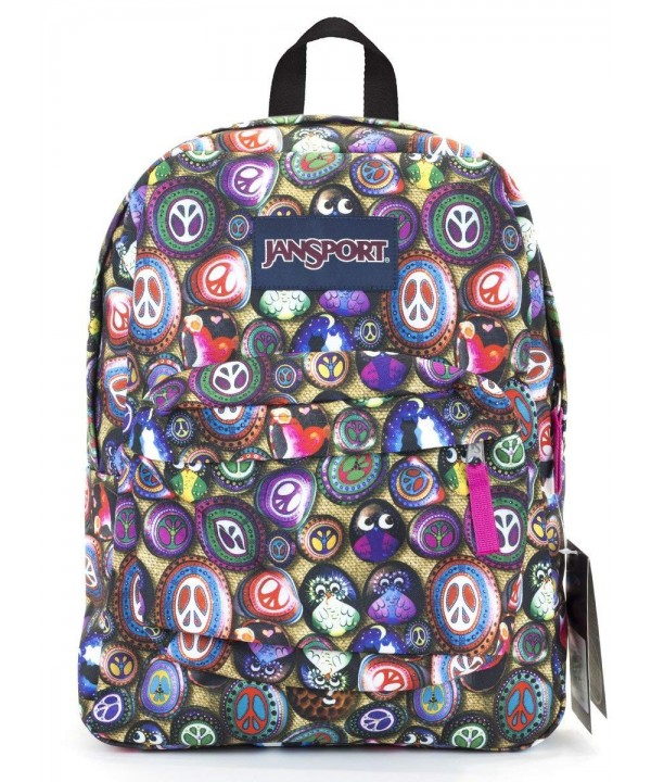 Jansport Superbreak Backpack painted stones
