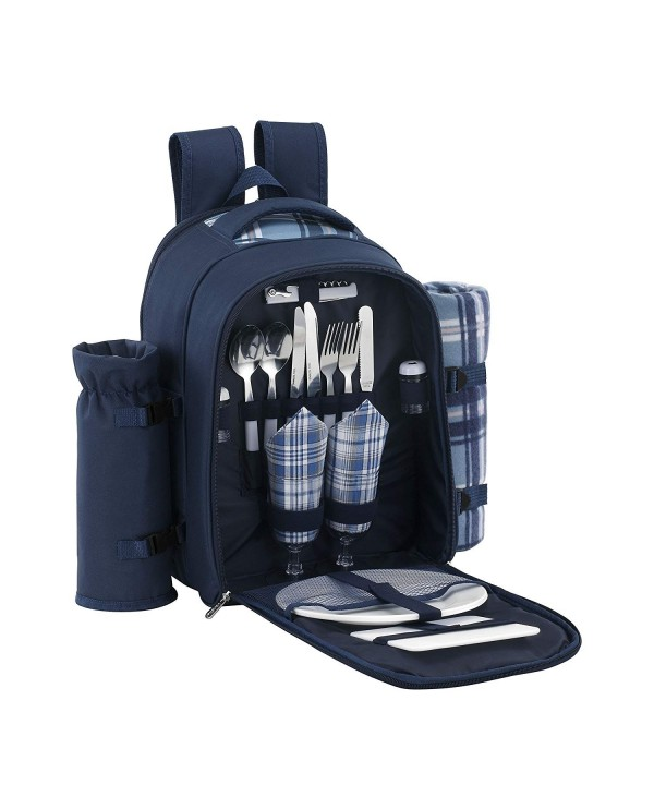 VonShef Backpack Compartment Tableware Blanket