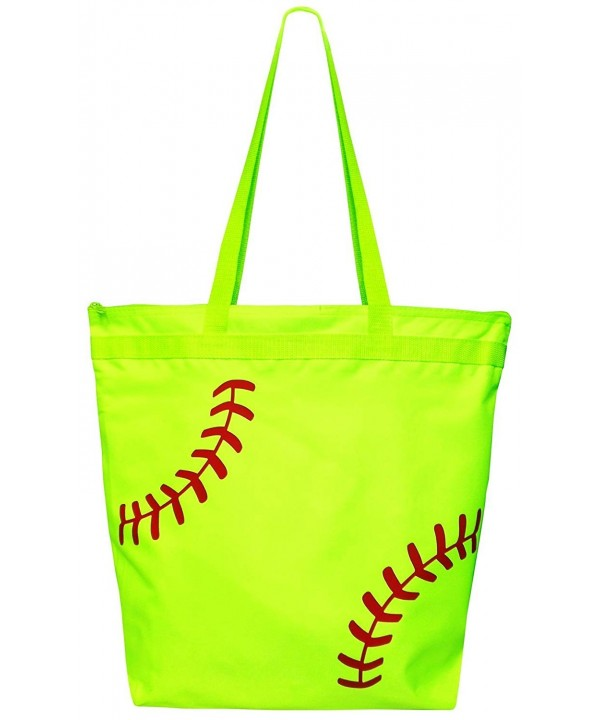 Magnetic Impressions ToteSoftballNeonZip Softball Laces