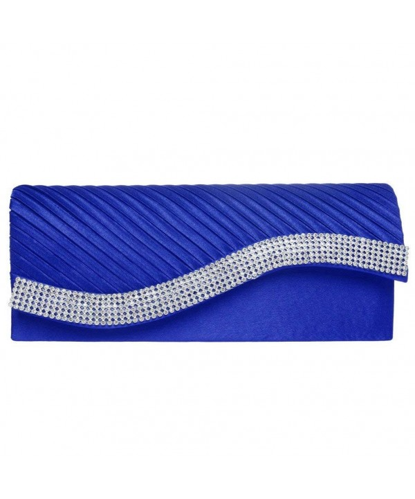 Evening Fashion Pleated Envelope Rhinestone