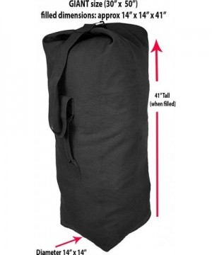 Black Giant Canvas Military Duffle