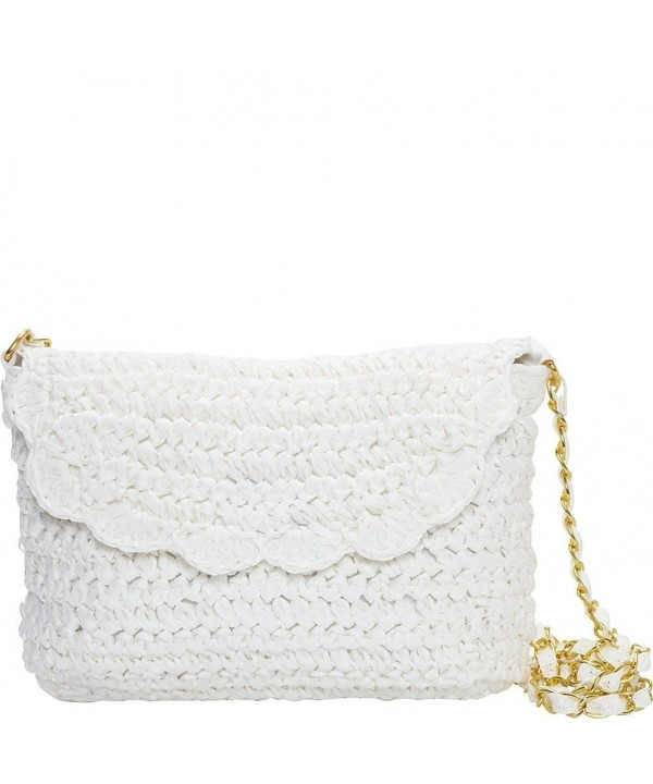 Magid Crochet Chain Crossbody White